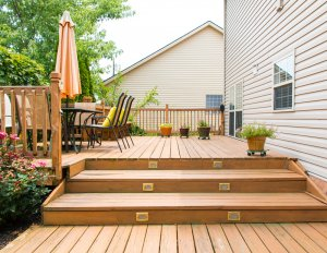 low level wood deck